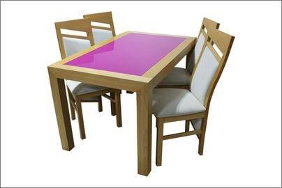 lacobel stół z krzesłami
